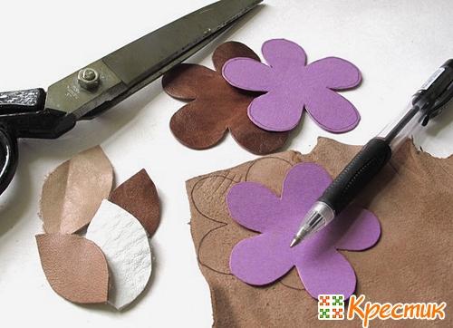 Роскошные цветы из кожи своими руками