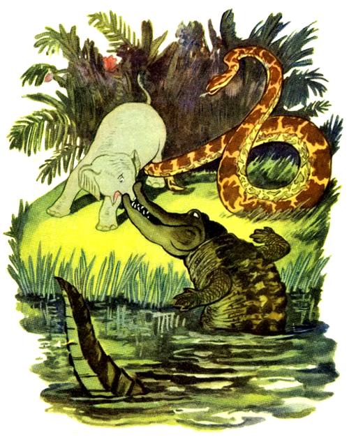 Р.киплинг слонёнок читать онлайн с иллюстрациями автора