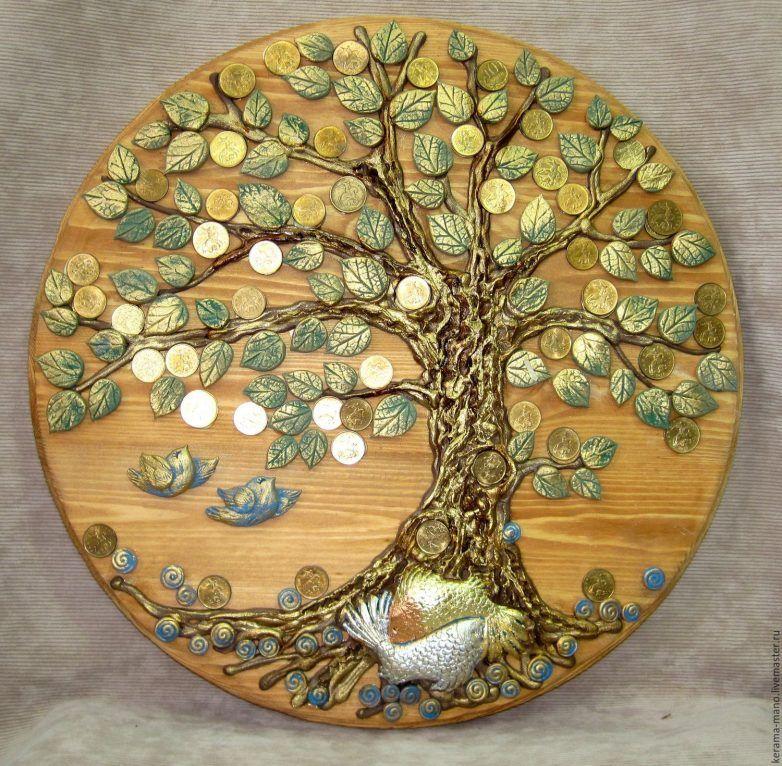 Картина «денежное дерево» из монет своими руками