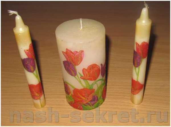 Декупаж свечей: мастер-классы и советы по выбору свечки