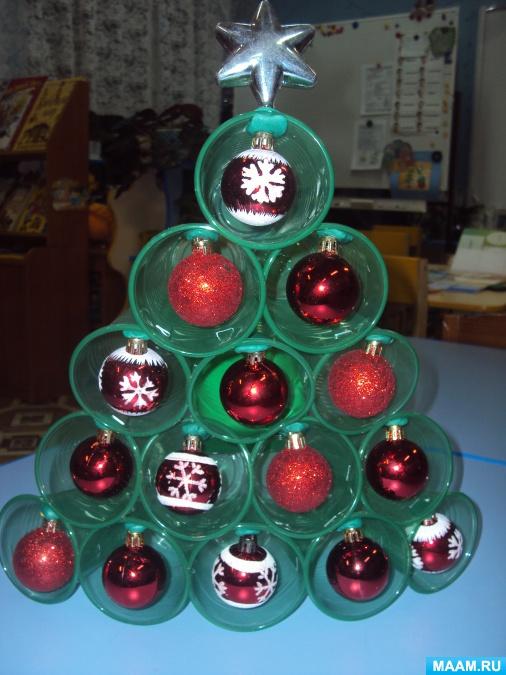 Новогодняя елочка из пластиковой бутылки