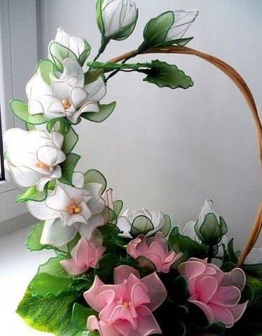 Цветки из капрона своими руками