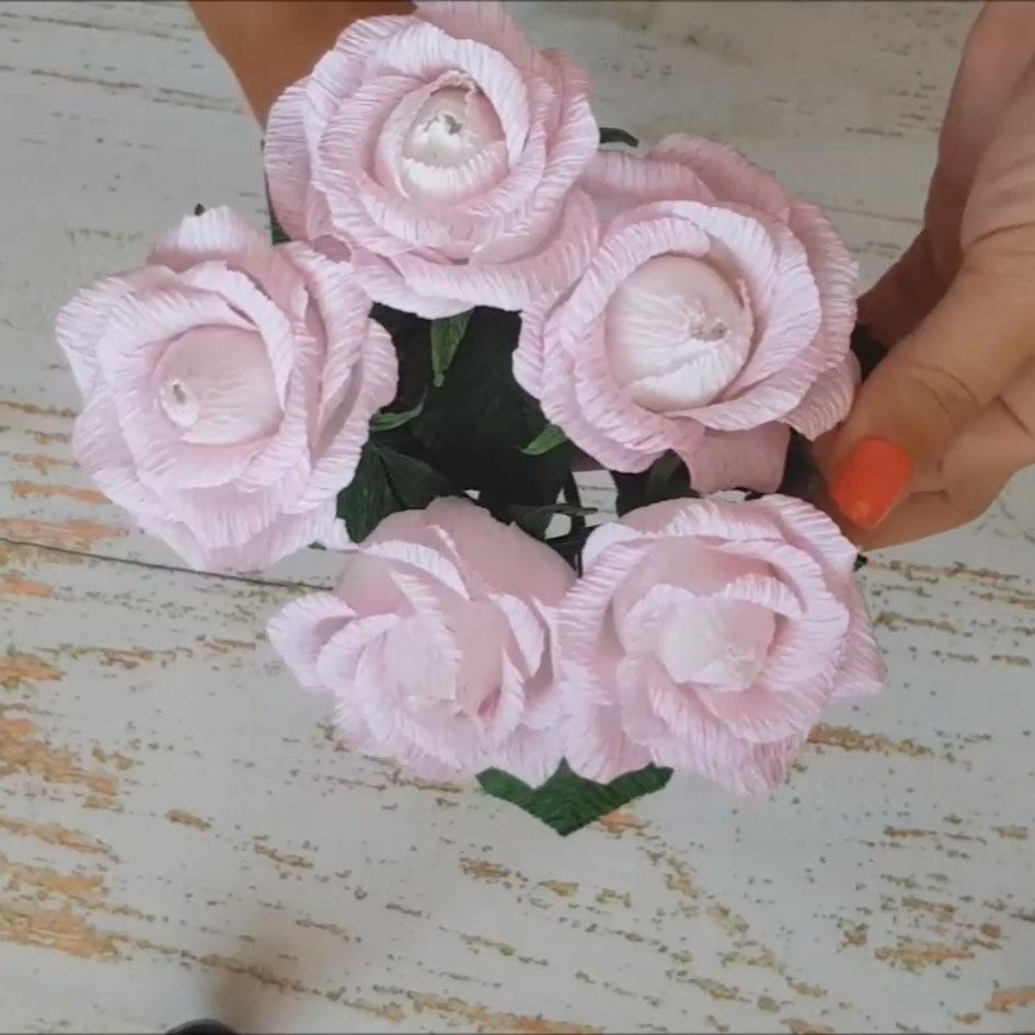 Розы из гофрированной бумаги своими руками [мастер-классы 2019]