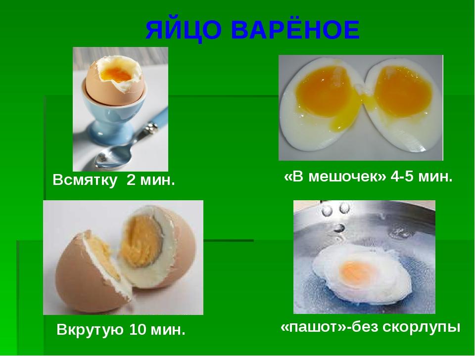 Сколько варить яйца в мешочек, всмятку, вкрутую