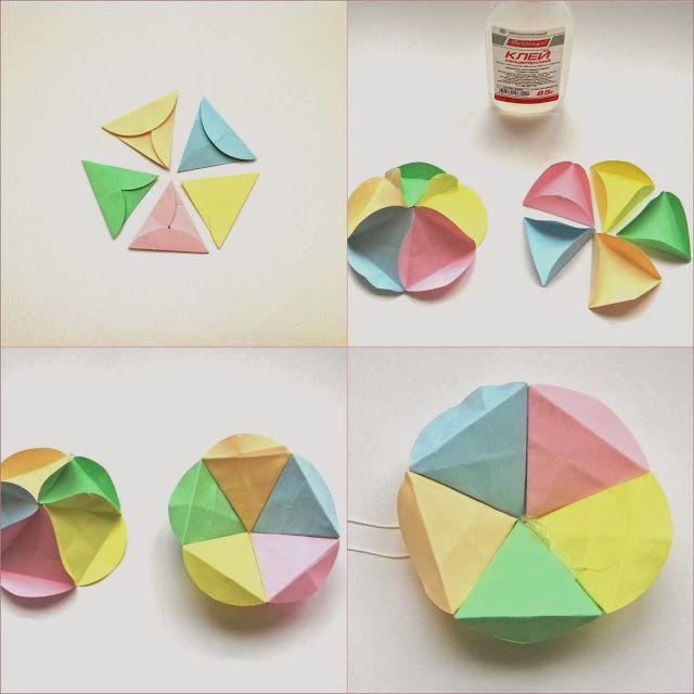 Как сделать шар из бумаги: инструкция по созданию волшебных шаров кусудама. развертка шара в картинках