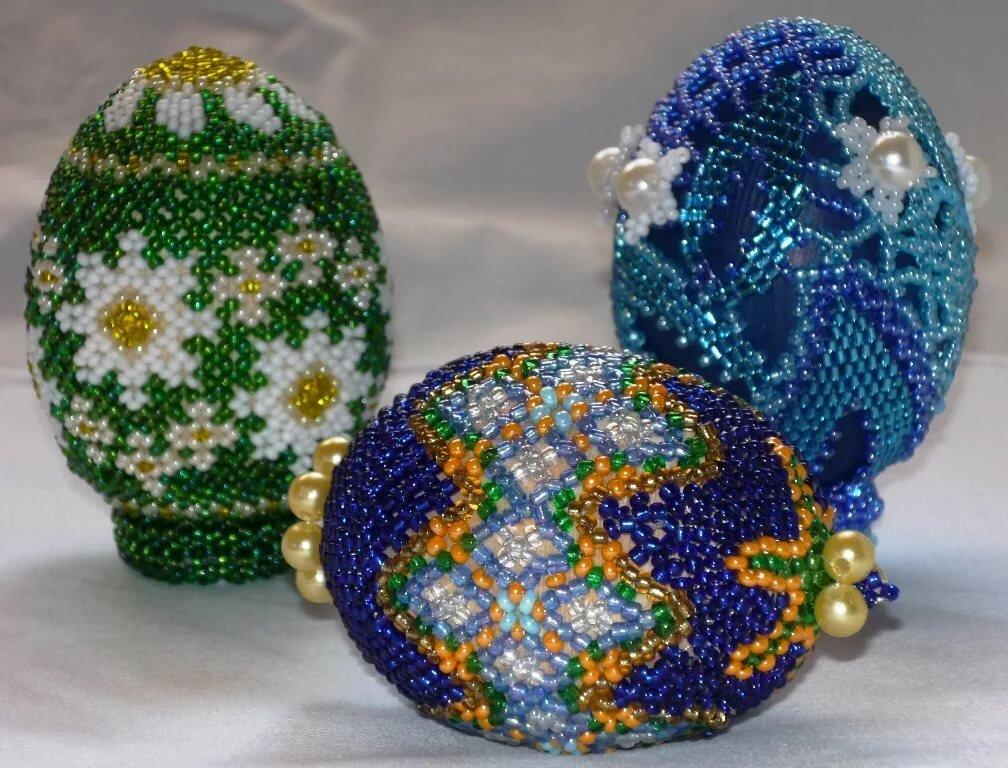 Пасхальные яйца из бисера: схемы плетения для начинающих, фото и видео