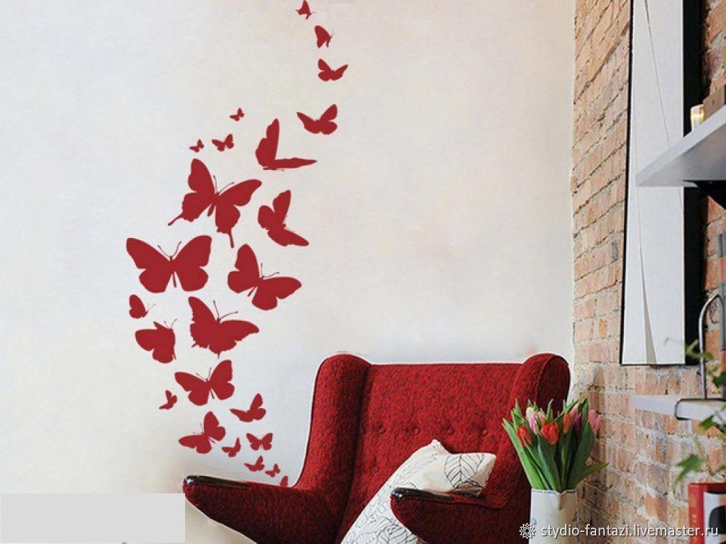 Бабочки на стену: необычные идеи и варианты украшения стан бабочками (105 фото + видео)