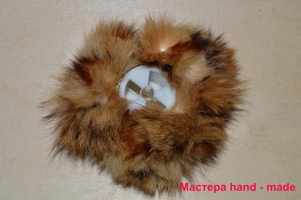 Резинка - цветок из кожи и меха. меховая резинка для волос, своими руками резинка из норки своими руками