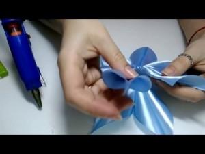 Звезда из атласной ленты. как сделать звезду из ленты атласной на ёлку? | категория статей на тему атлас
