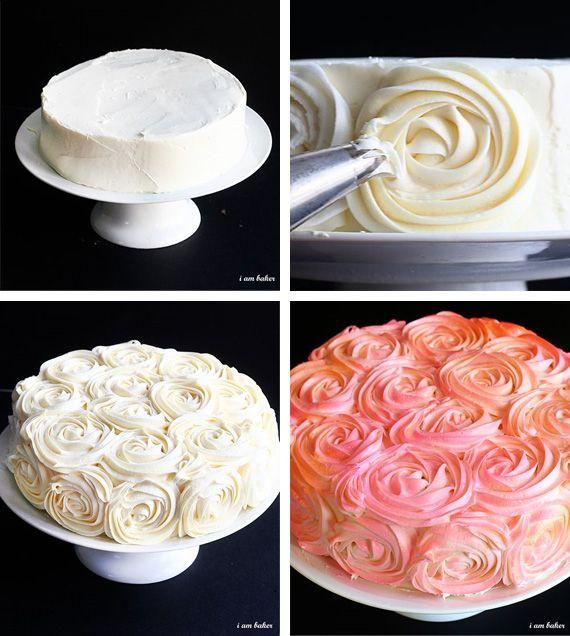 Крем для розочек на торт рецепт с фото - 1000.menu