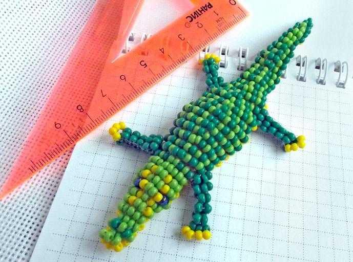 Крокодил из бисера инструкция. крокодил из бисера: схема работы с бусинами для начинающих