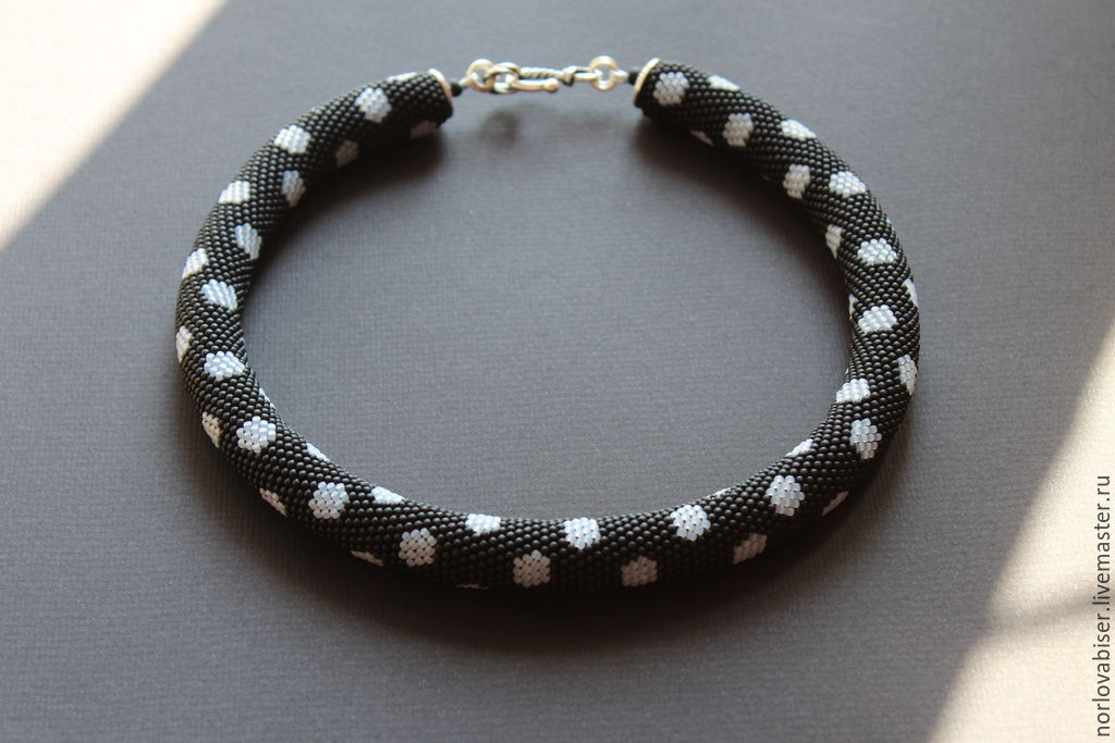 Спиральный жгут «нефрит» колье, бусы, ожерелья из бисера – бисерок