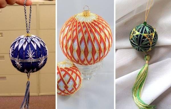 Делаем красивый шар из ниток и клея пва