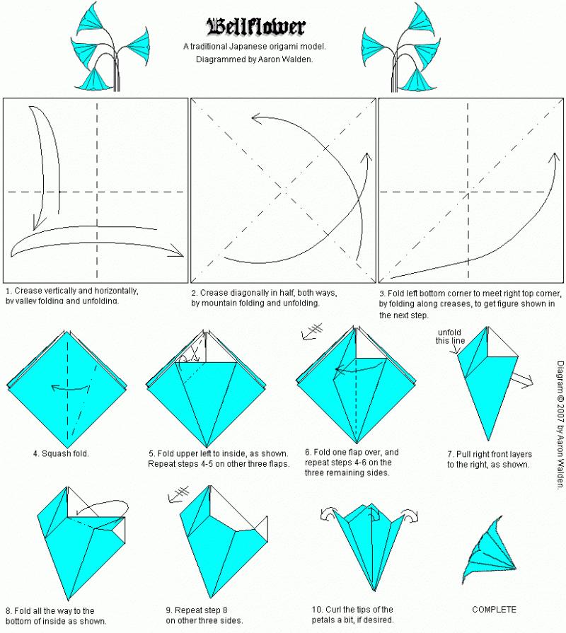 Как сделать кувшинку из бумаги оригами