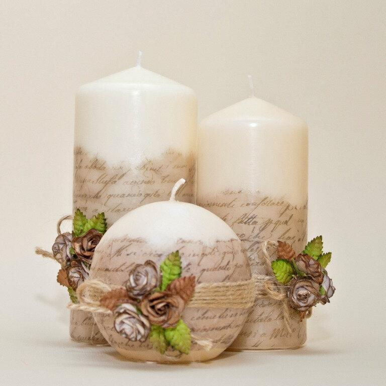 Декор свечей: 105 фото лучших вариантов и примеров использования в оформлении