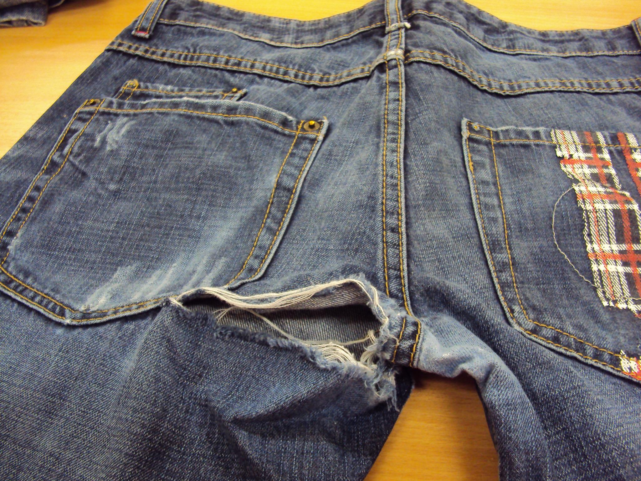 Ремонтируем протертые джинсы