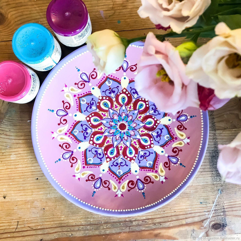 ᐉ роспись тарелки глиттерами - своими руками -