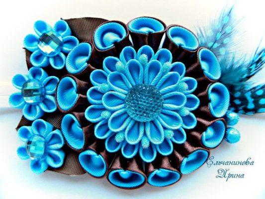 Канзаши для начинающих (29 фото): пошаговые мастер-классы и самые простые схемы техники. как делать цветы 5 см и других размеров из атласных лент своими руками?