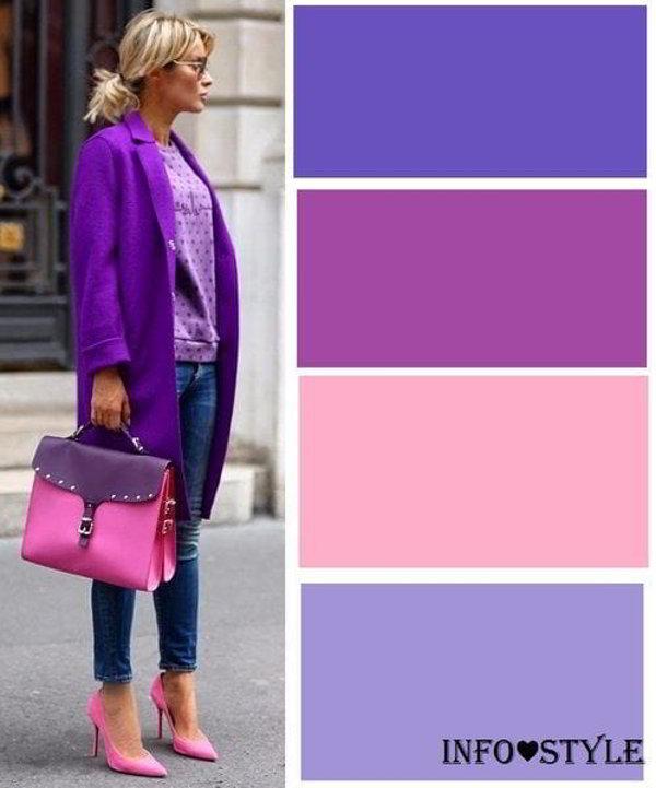 Лиловый цвет и сочетание с ним | lookcolor