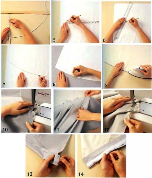 Как подшить шторы своими руками правильно в домашних условиях на швейной машинке