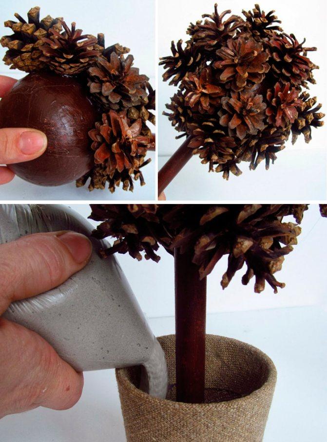 Как сделать топиарий своими руками: из кофе, салфеток, атласных лент и гофрированной бумаги