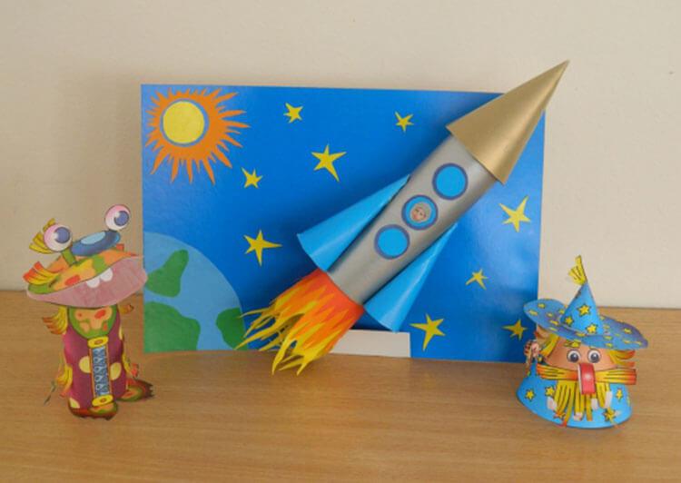 Ракета своими руками для детей – как сделать ракету из подручных материалов