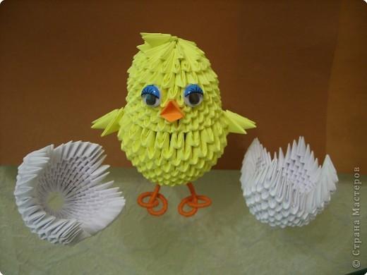 Воробей из ниток. игрушка из полиэтилена «птенец модульное оригами птенец