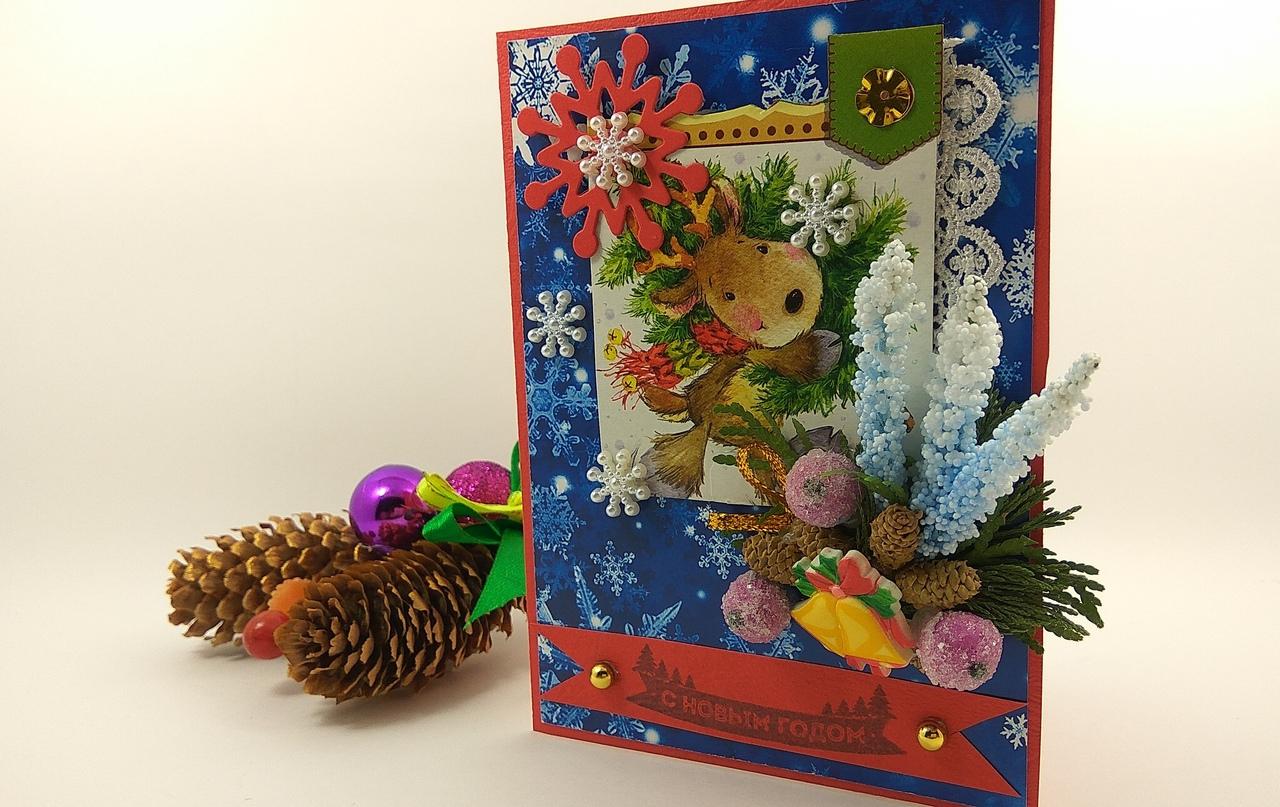 Новогодние открытки своими руками: идеи, советы, фото, инструкции
