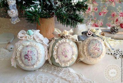 Декупаж новогодних шаров - «декор» » «дизайна интерьера»
