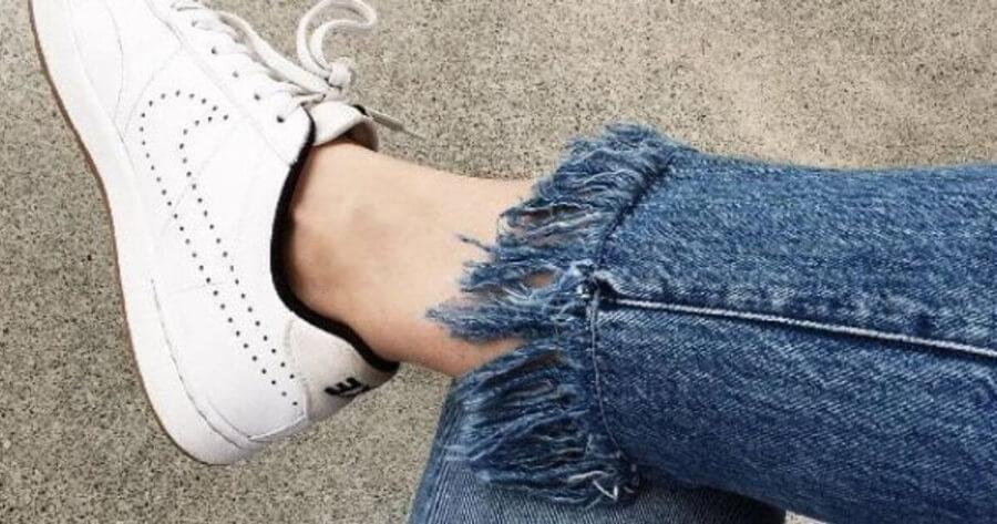 Хитрый и простой способ , чтобы это не было заметно… подшиваем джинсы красиво — не обрезая и сохраняя строчку!