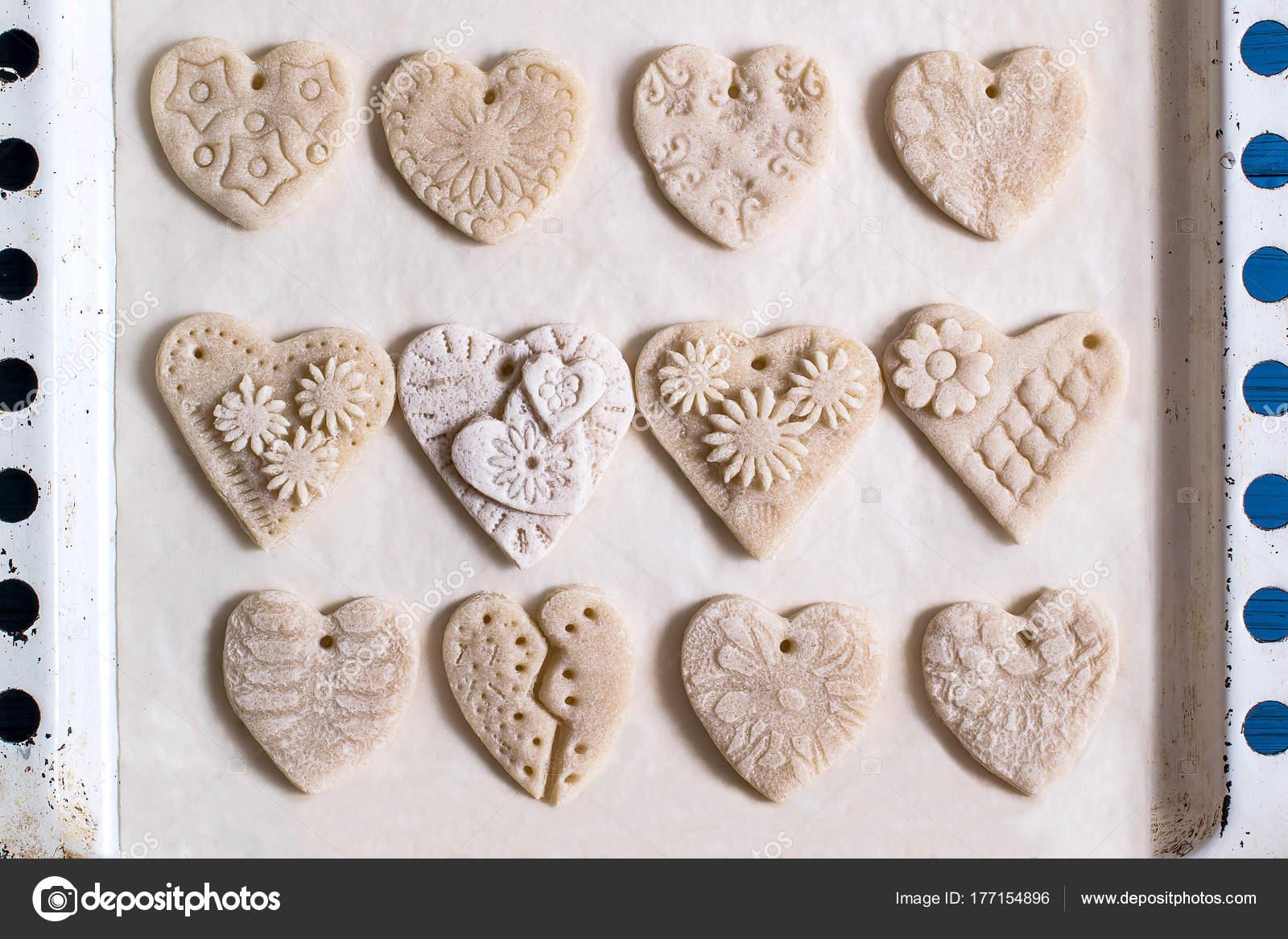 Валентинки из соленого теста, много разных | страна мастеров
