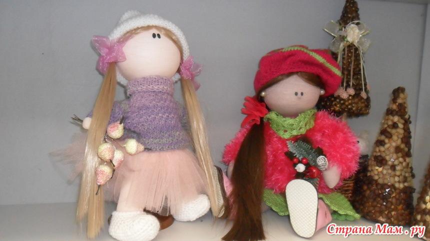 Кукла большеножка с цельнокроенной головой, выкройки её и её одежды