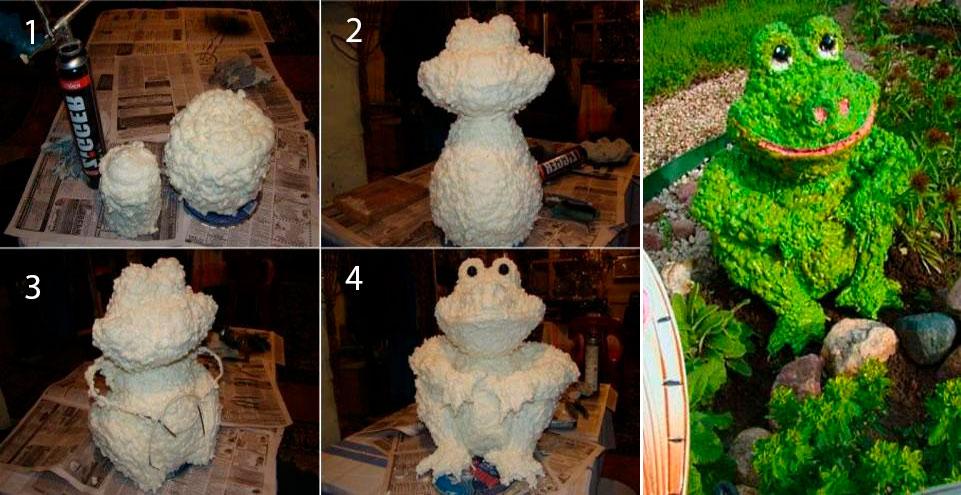 Поделки из монтажной пены своими руками: снеговик, елка, скульптуры, оригинальные фигуры с инструкциями (фото + видео)