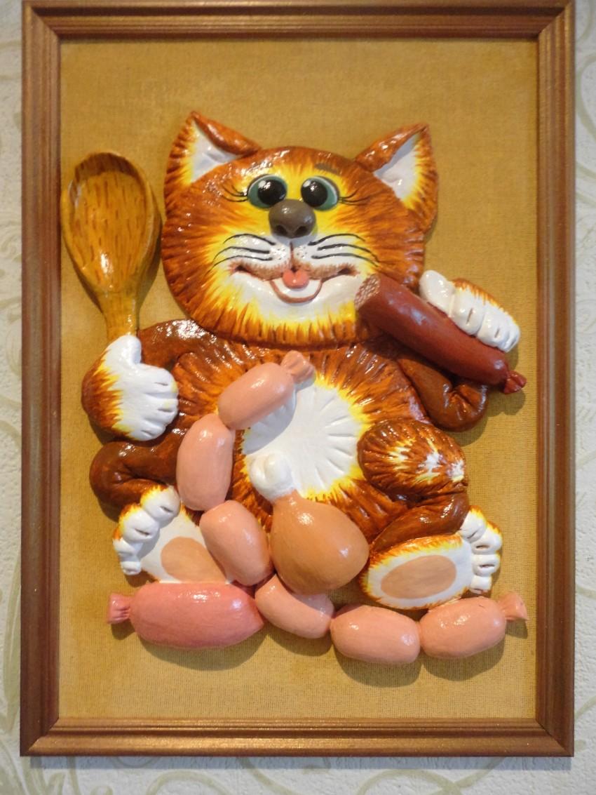 Коты из солёного теста своими руками, мастер класс, котенок, кот-магнитик