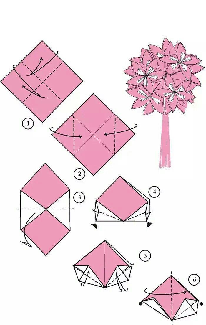 Цветы из оригами с пошаговой инструкцией для детей и взрослых
