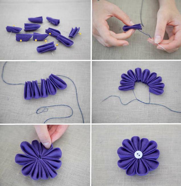Как сделать цветы из лент своими руками - материалы, обзор техник, фото примеры