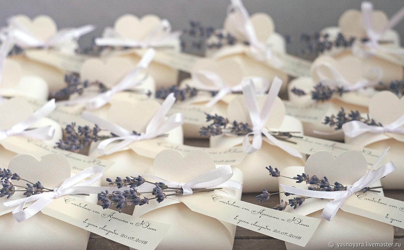 Идеи для бонбоньерок на свадьбу из разных материалов, с фото