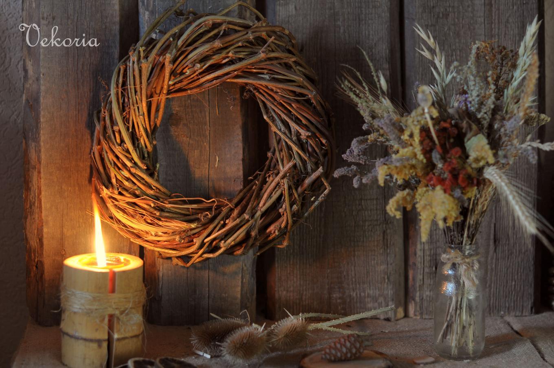 Новогодний венок своими руками: украшение для стола. как сделать новогодний венок из еловых веток и оазиса - мастер-класс с фото