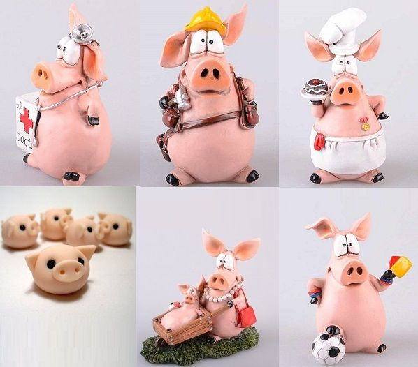 Свинка и поросенок из пластилина — коробочка идей и мастер-классов