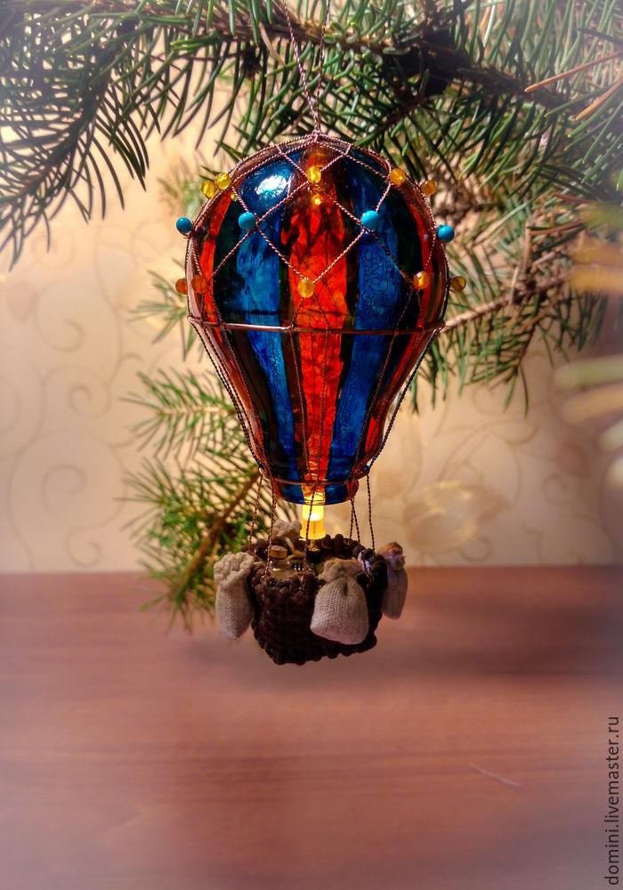 Воздушные шары на елочку из лампочек | страна мастеров