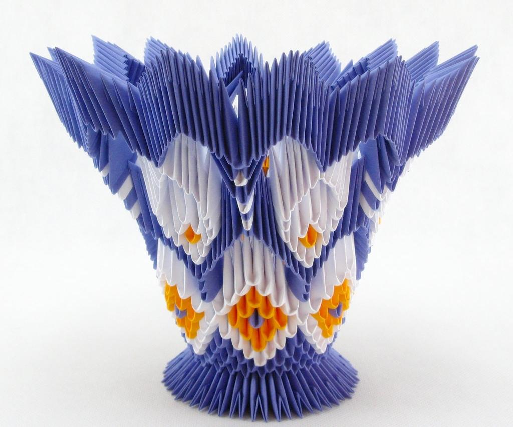 Модульное оригами вазочка схема