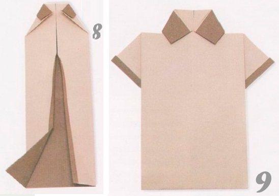 Открытка-рубашка на 23 февраля: поделка из бумаги своими руками, оригами с галстуком. как пошагово сделать подарок для детей и папы из полотенца?