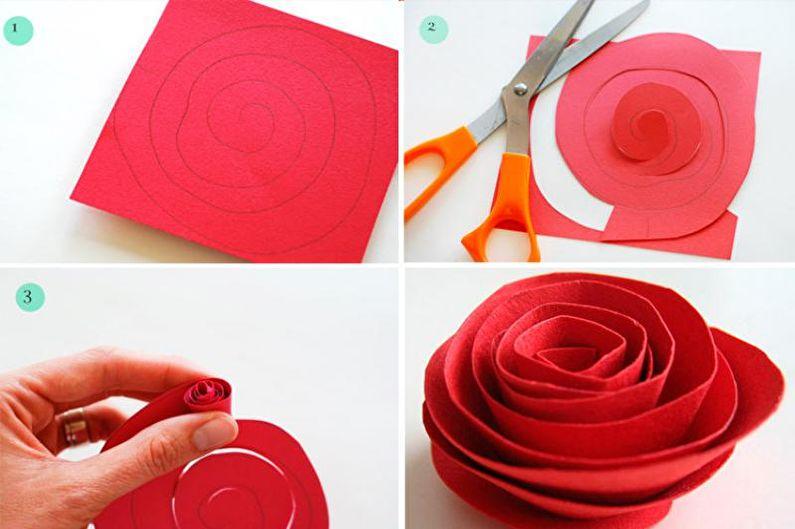 Как сделать розу из гофрированной бумаги своими руками?