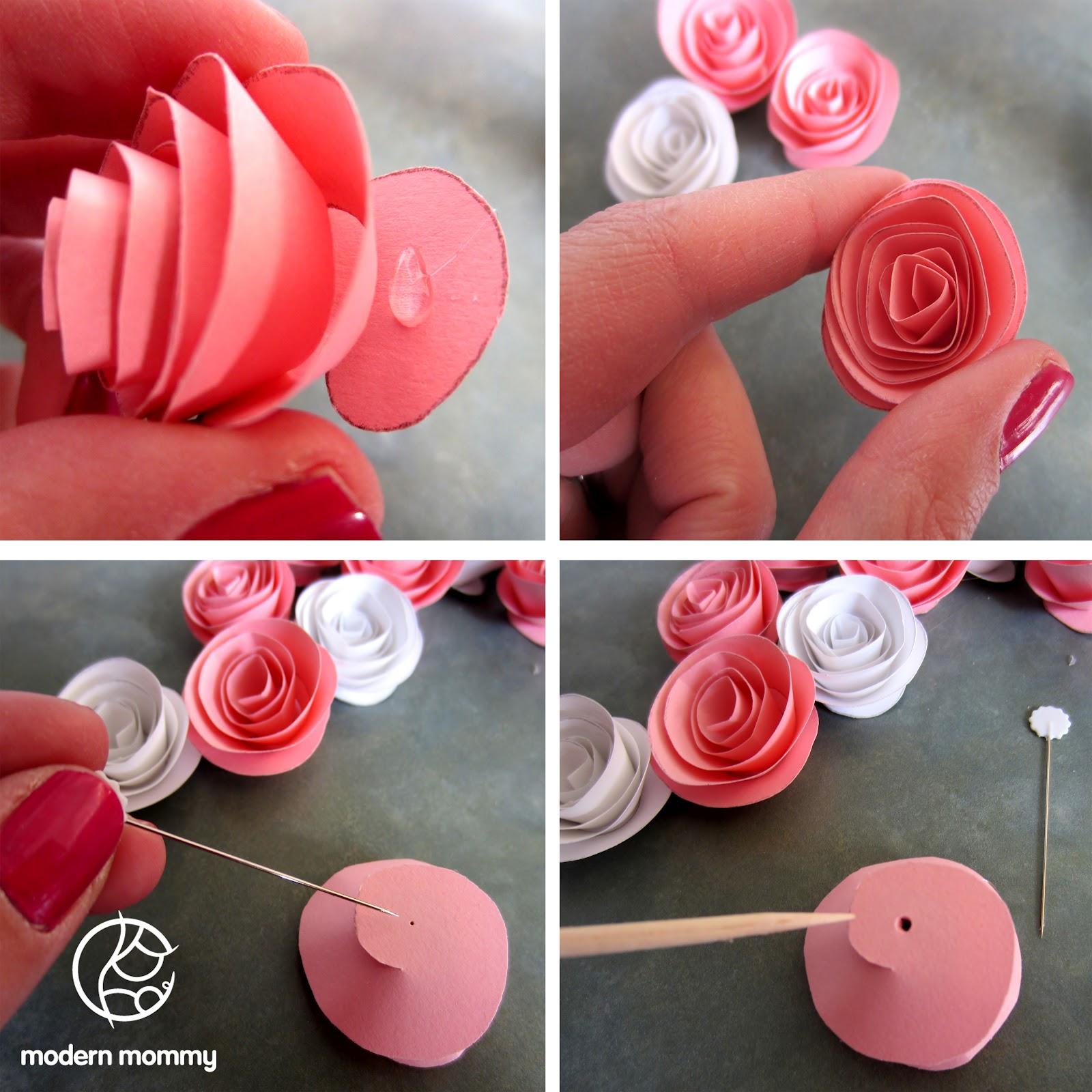 Мастер-класс поделка изделие 8 марта день рождения бумагопластика мк роза из гофрированной бумаги бумага гофрированная клей проволока