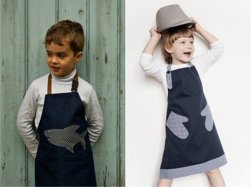 Детские фартуки для кухни: примеры, фото, как сшить своими руками.