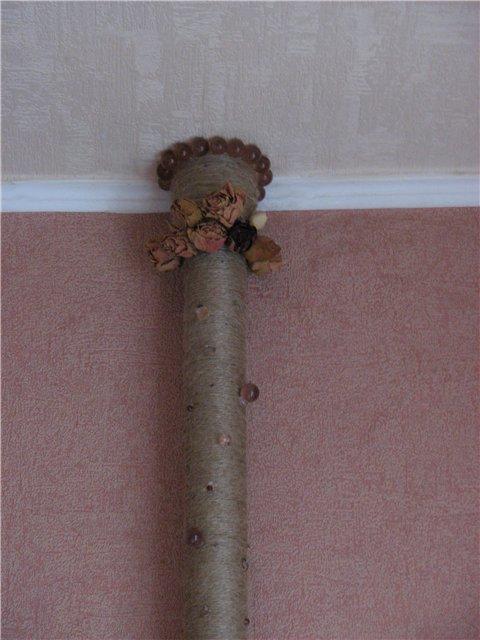 Как спрятать трубы отопления в помещении - идеи с фото