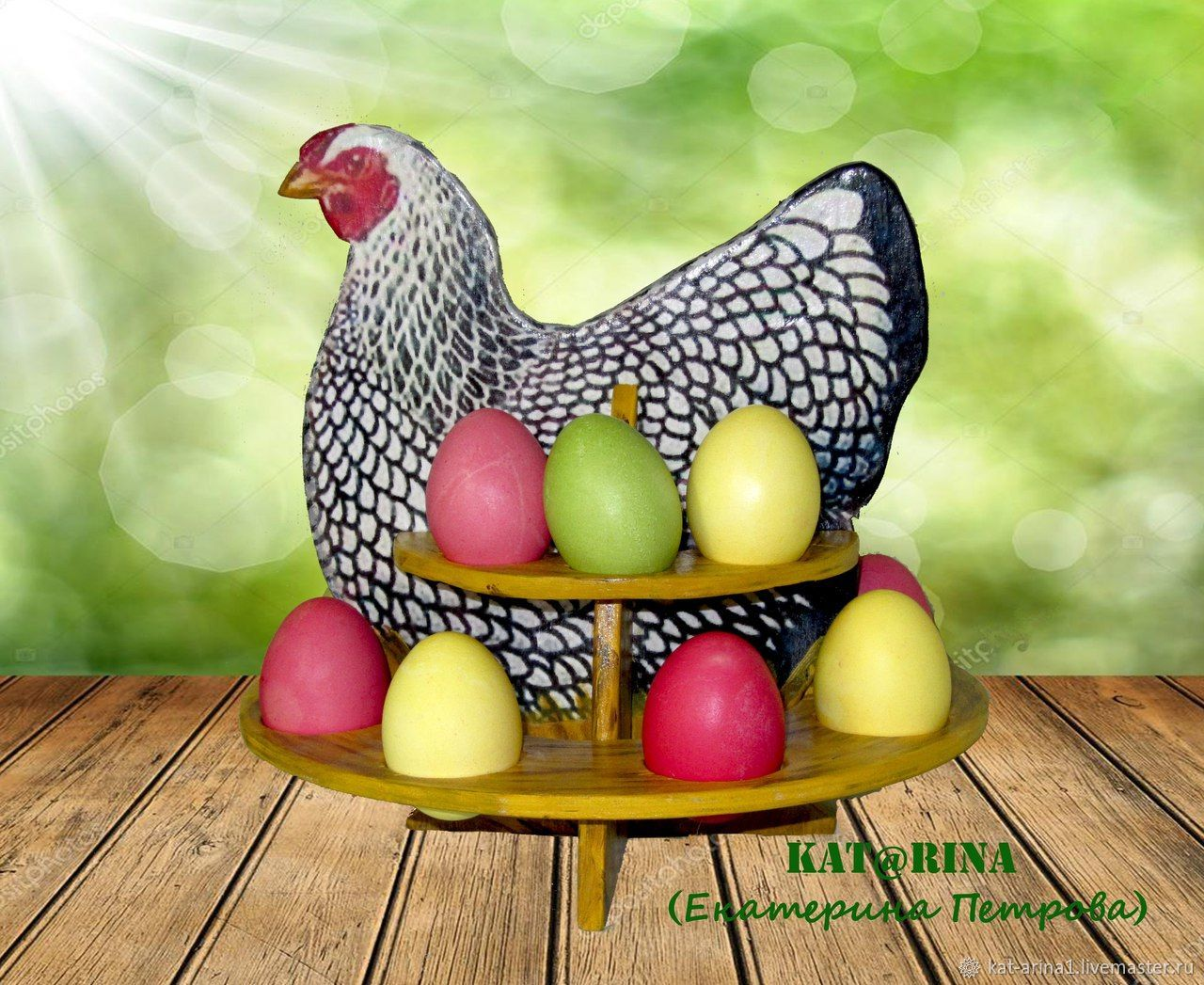 ᐉ пасхальная курочка с яйцами - своими руками -