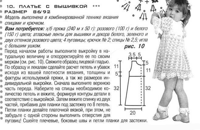 Вяжем крючком красивые платья для девочки