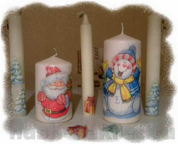 Как сделать декупаж свечи с помощью ложки