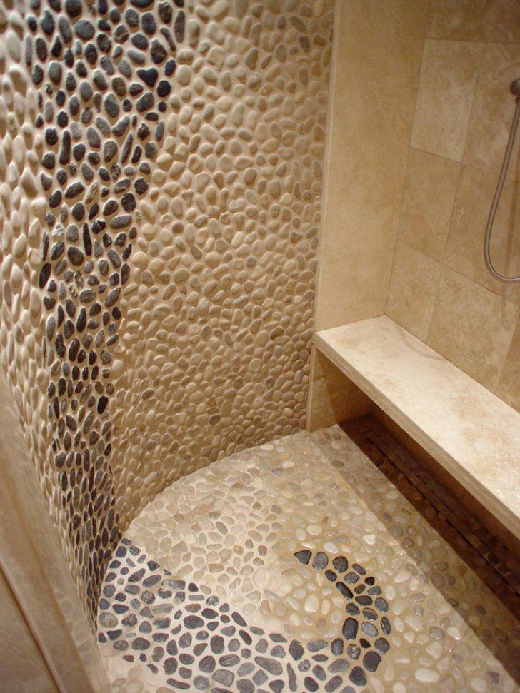 Оригинальный декор для плитки из морской гальки — своими руками